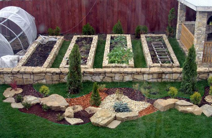 Огород на участке