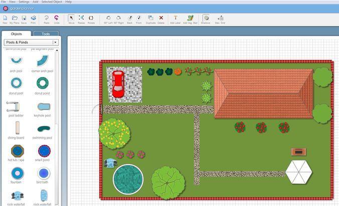 Интерфейс проектирования Garden Planner