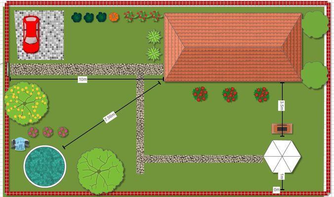 Пример плана Garden Planner
