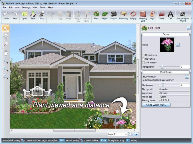 Скриншот интерфейса Realtime Landscaping Architect