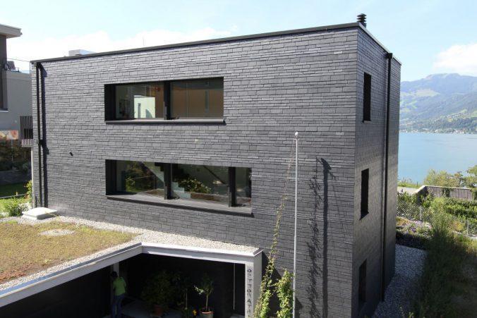 Фасад из плитки в современном стиле
