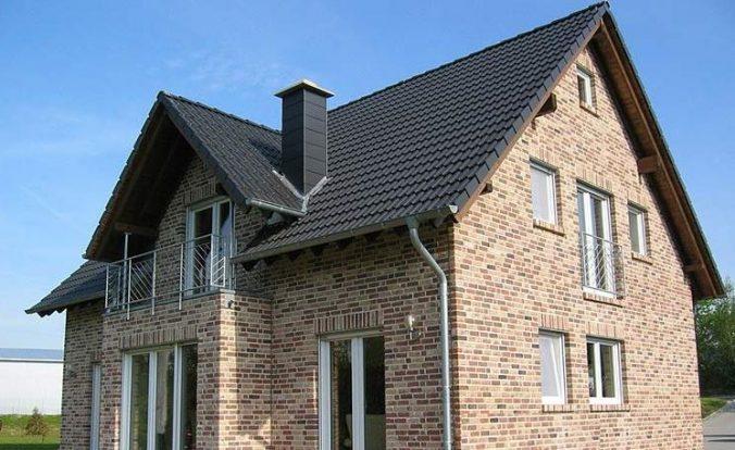 Классический фасад из клинкерной плитки