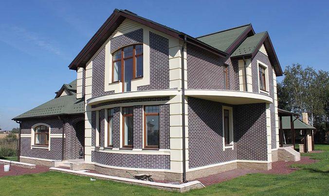 Отделка фасадов домов клинкерной плиткой дизайн