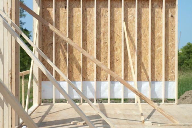 Фото стен каркасного дома изнутри
