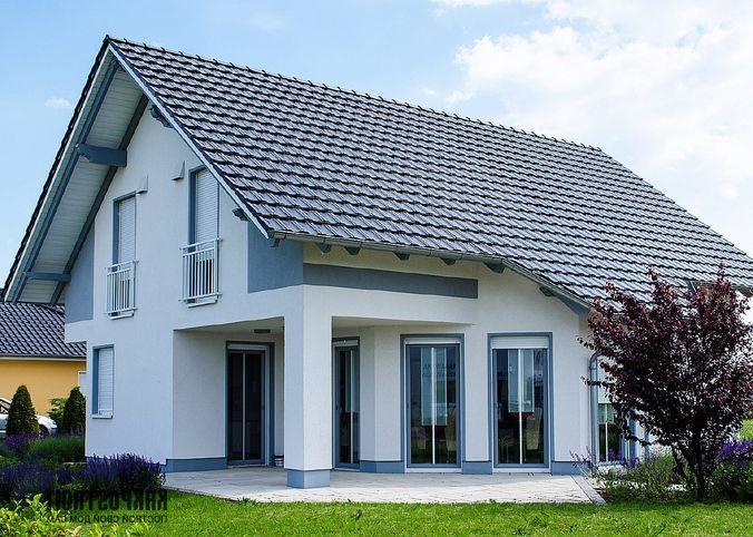 Классический вариант дома с двускатной крышей