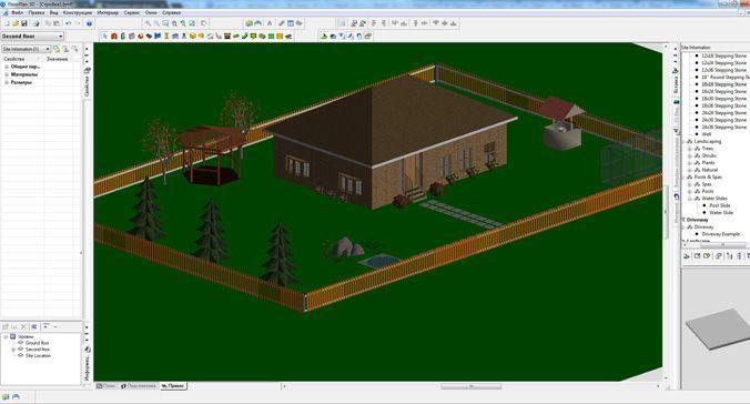 Скриншот интерфейса FloorPlan 3D