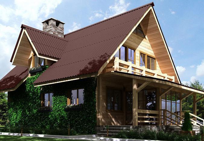 Фото крыши дома из ондулина
