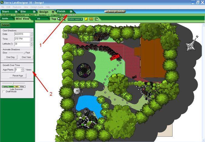 Интерфейс Sierra LandDesigner 3D v. 7.0