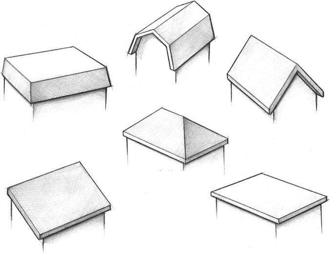 Виды крыш для частных домов
