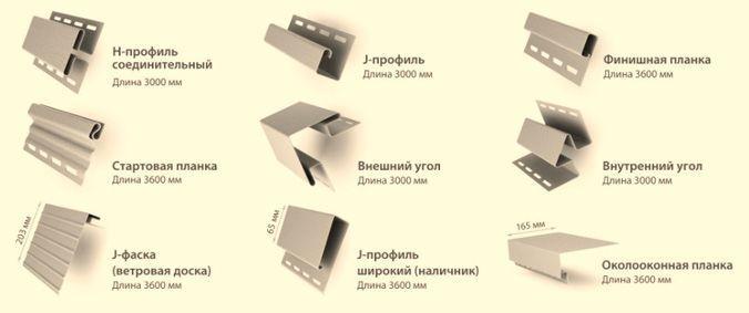 Виды комплектующих для обшивки сайдингом