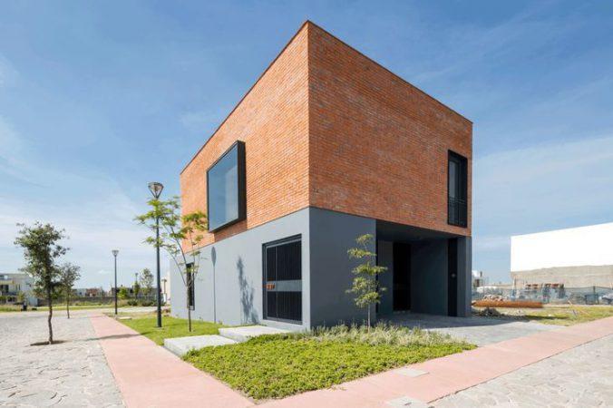 Фасад в стиле модерн