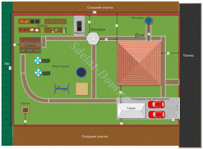 Планировка зоны отдыха участка