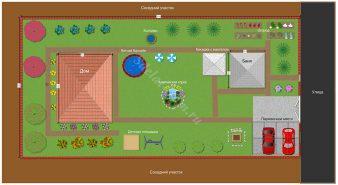 Планировка дачного участка 8 соток