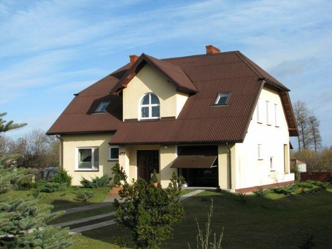 Сложная крыша из ондулина