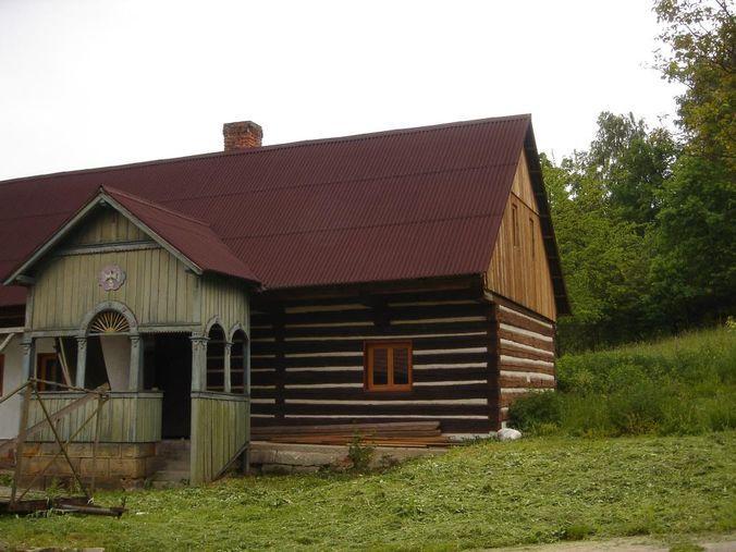 Ондулин на крыше старого дома