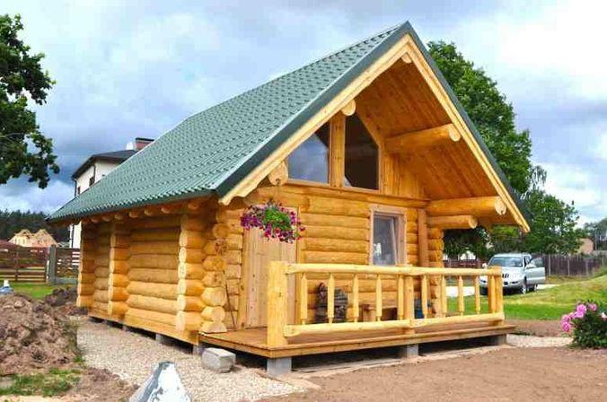 Одноэтажный дом с небольшой верандой