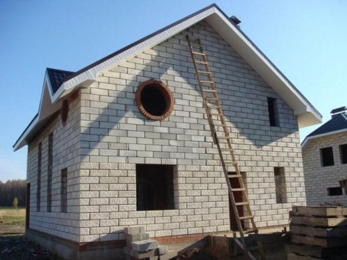 Еще один вариант отделки стен из пеноблоков