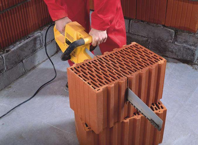 Резка керамических блоков
