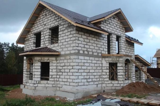Дом на ленточно-свайном основании