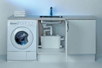 Подключение слива стиральной машины к канализации