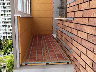 Теплые полы на балконе или лоджии