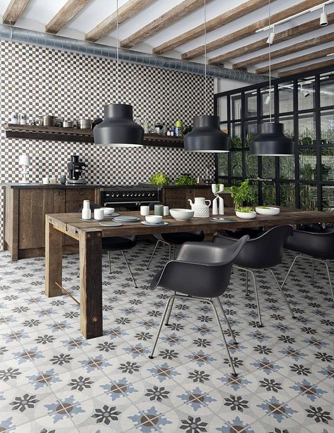 керамическая плитка на кухонной стене