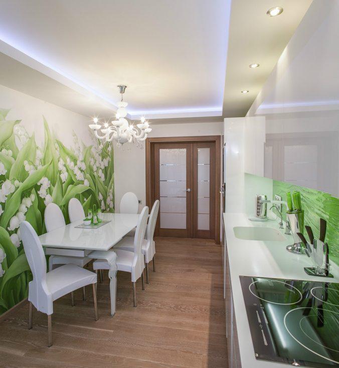 фотообои тюльпаны зеленые на кухне именно