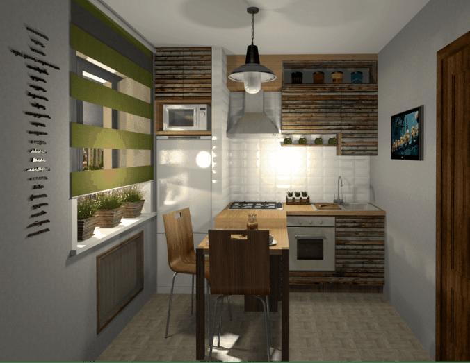 кухня в одну полосу
