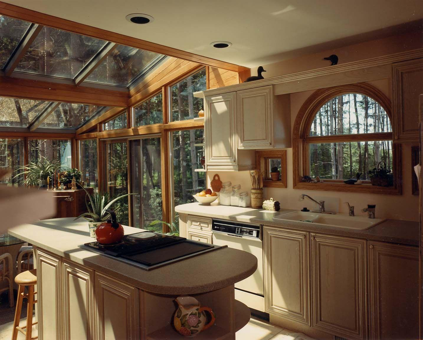 такой картинки кухни с большим окном подборке