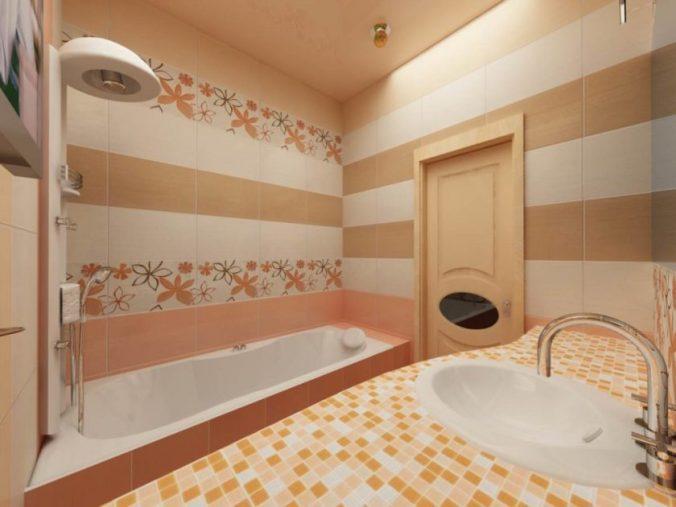 ванная в полоску