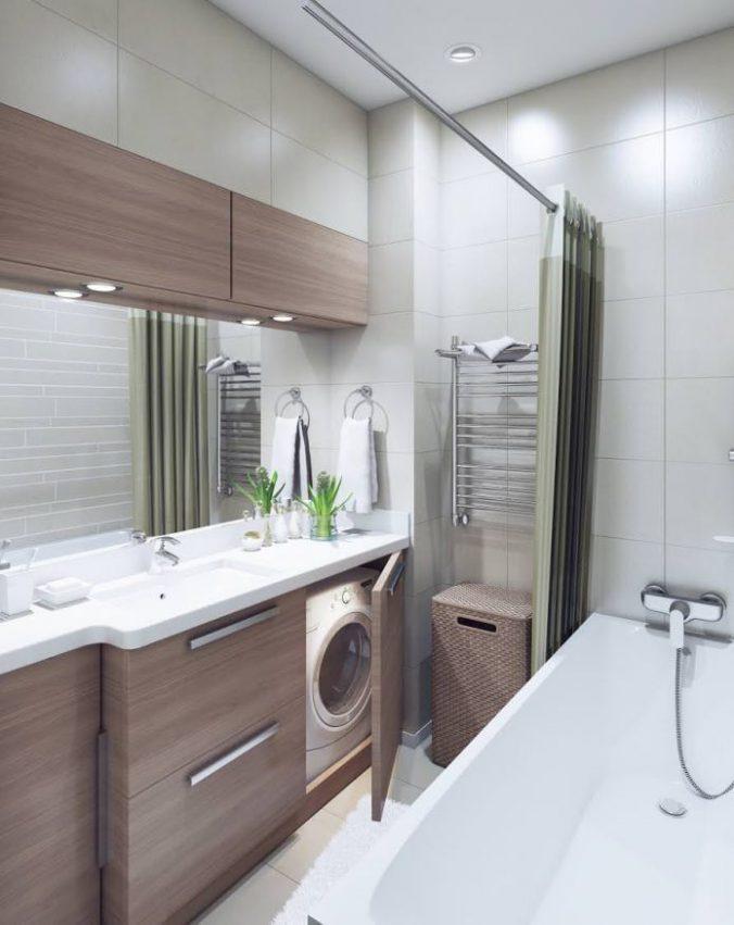 ванная со стиралкой