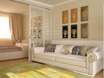 Интерьер спальни-гостиной