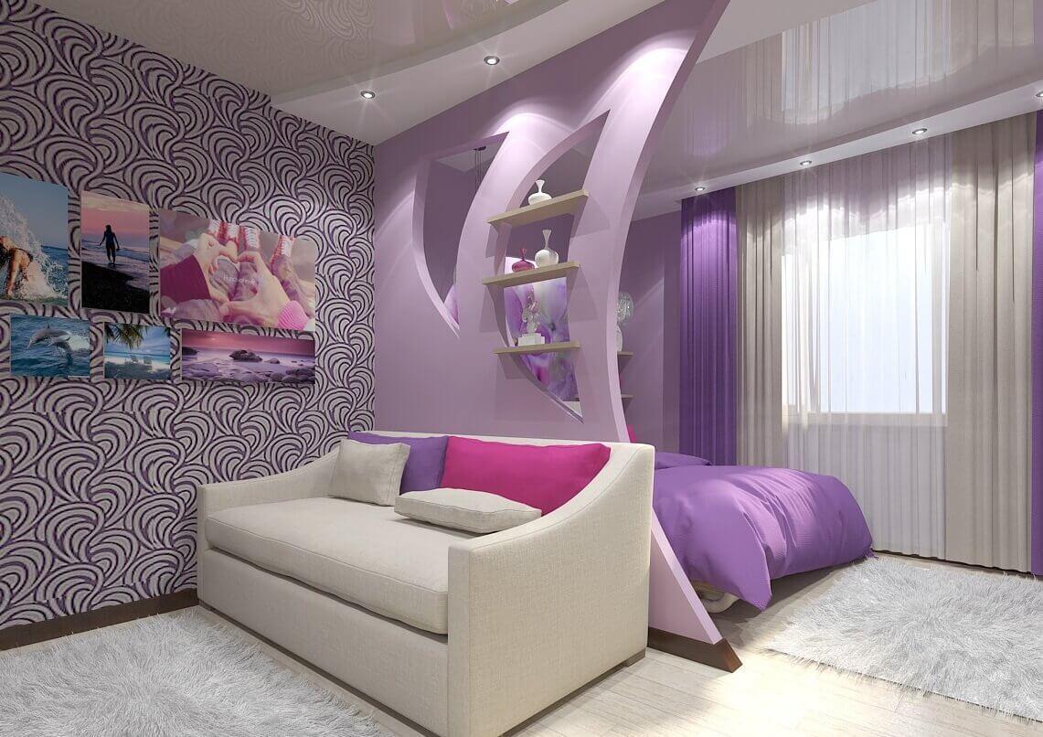 зал спальня дизайн фото современный